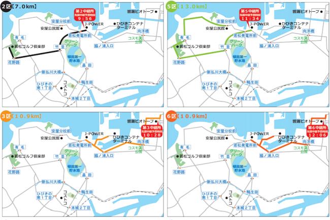 九州実業団駅伝のコース