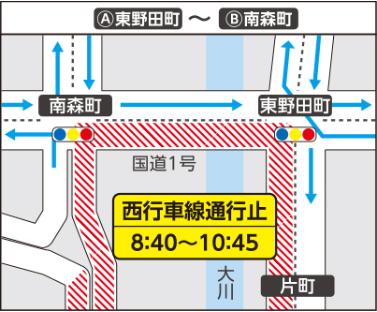 大阪マラソン2019交通規制 東野田町~南森町