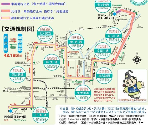 全国女子駅伝2020の交通規制