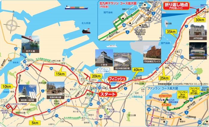 北九州マラソン2020のコース図