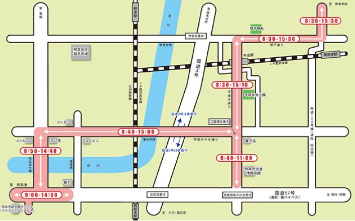 熊本城マラソンの交通規制(平成大通りエリア)