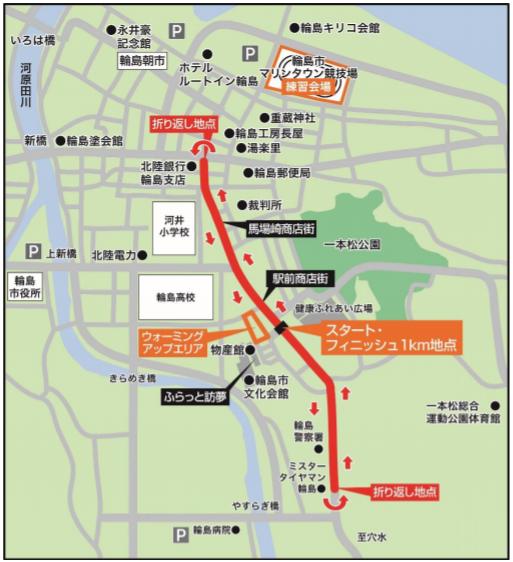 日本選手権50km競歩のコース
