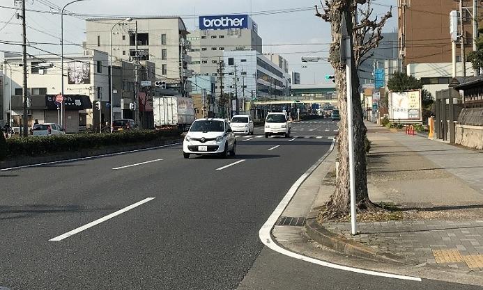 名古屋ウィメンズマラソン2020のコース折り返し地点